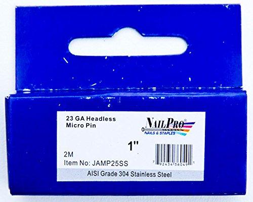 "NailPRO 23 Ga x 1"" Stainless Steel Headless Micro"