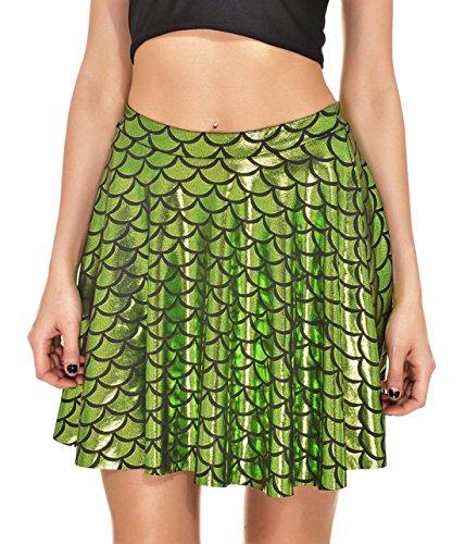 des t Imprime Plisse Chic Clair de cailles de Jupes Vert Soire Cocktail New Fte Jupe Poisson Femme Mini Court gwp5qxwZB