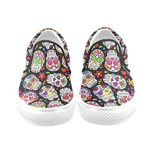 D-story Custom Funny Dog ​​womens Canvas Shoes Moda Scarpe Sneaker Multi4
