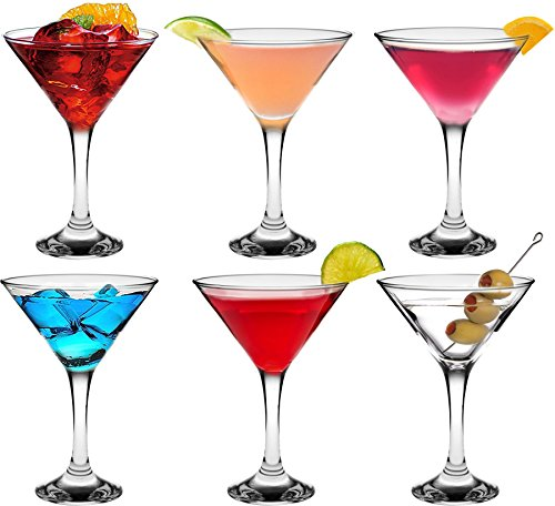 Rink Drink Martini Cocktail Glasses - 175ml (6oz) Gift Box Of 6 by Rink Drink
