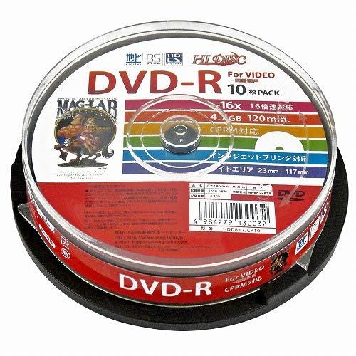 MAG-LAB HI-DISC DVD-R HDDR12JCP10