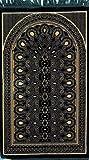 Premium Islamic Prayer Rug/Janamaz Sajjadah/Namaz Seccade by GOLD CASE - Made in TURKEY, Green