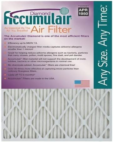 Accumulair Diamond 18x20x1 Furnace Filters
