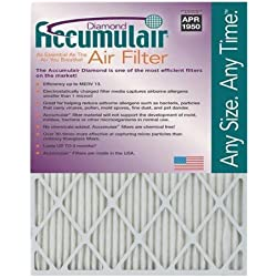Accumulair Diamond 10x28x1 (9.5x27.5) MERV 13 Air Filter/Furnace Filters (6 pack)