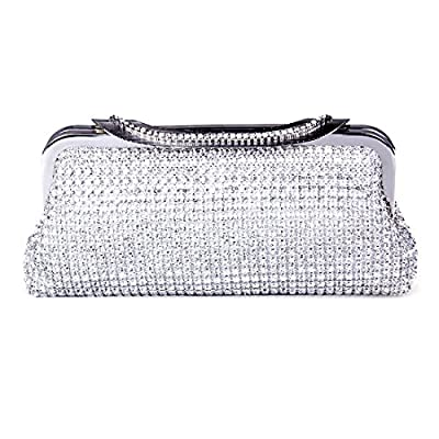 ECOSUSI Ladies Clutches Purses Crystal Rhinestone Party Evening Bags