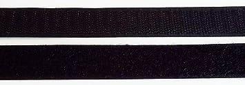 und Flauschband 20 mm schwarz zum N/ähen Klettband Haken