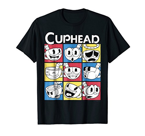 Cuphead Nine Squares of Different Emotions Graphic T-Shirt