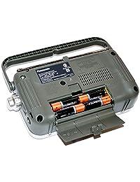 Panasonic Portable Radio AM FM con LED indicador de sintonía + 4 pilas AA + herofiber Ultra Suave Paño de limpieza
