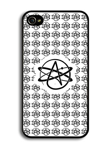 Atheist Symbol Atomic Whirl Atheism Rutherford Atom case for iPhone 4 4S