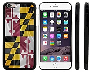 Rikki KnightTM Maryland State Flag Design iPhone 6 Plus Case Cover (Black Rubber with front bumper protection) for Apple iPhone 6 Plus by supermalls