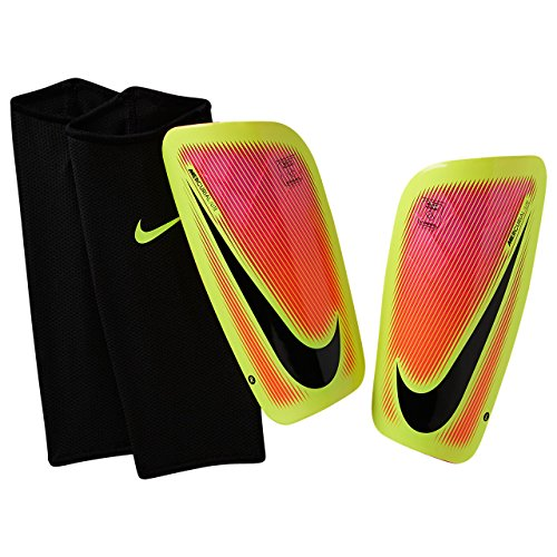 Nike Mercurial Lite Soccer Shin Guards (Medium) Pink, Volt