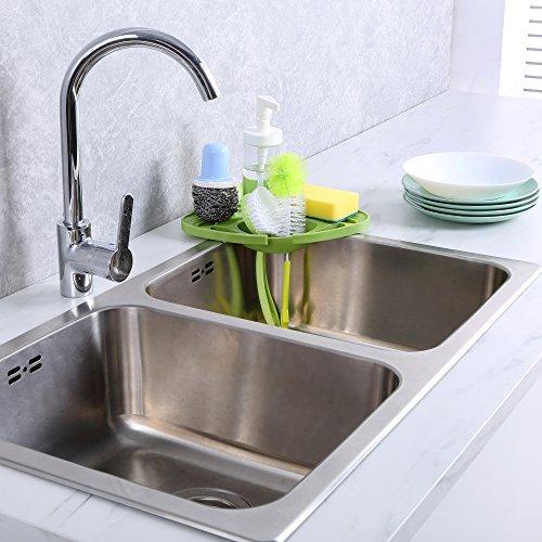 Attbee Kitchen Sink Caddy Sponge Holder Scratcher Holder
