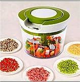 OSLEN Jumbo (2 in 1) 850 Ml, Vegetable Fruit Nut Onion Chopper,Hand Meat Grinder Mixer Food Processor Slicer Shredder Salad Maker Vegetable Tools
