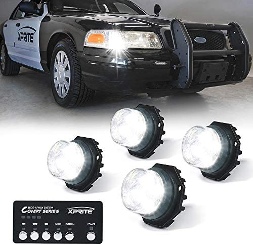 Amber/&White YITAMOTOR 21 Flash Patterns Amber White Led Hideaway Lights For Truck LED Hideaway Strobe Lights Car Bumper Emergency Vehicle