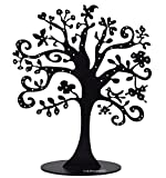 Widelife Jewelry Tree Stand Metal Jewelry Organizer Holder Display for Earrings, Bracelets, Necklaces (Black)