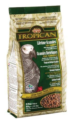 Hagen Tropican 1.8-Pound Lifetime Maintenance Parrot Granules, Standup Air Barrier Zipper Bag, My Pet Supplies