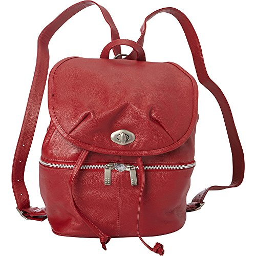 Piel Leather Drawstring Backpack (Red) ()