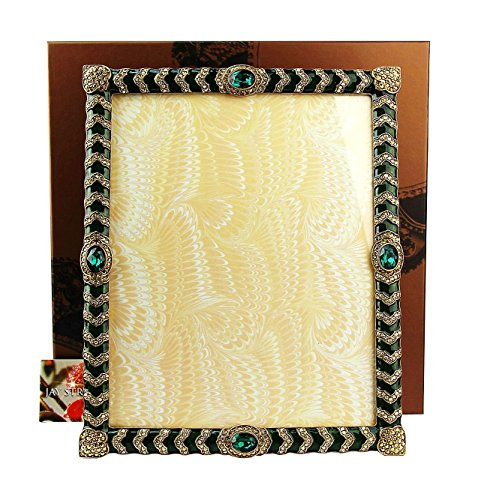 Jay Strongwater Alden Crystal Chevron Frame Made in USA Brand New, Orig. Box (Box Orig)