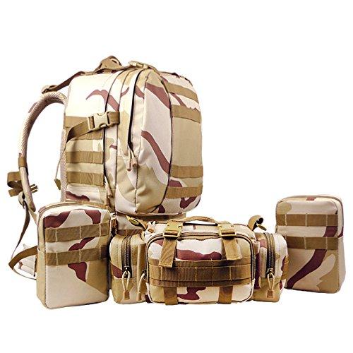 GOUQIN Outdoor Rucksack Klassische Mode 55 L Kombination Rucksäcke Wasserdichte Outdoor Rucksack Klettern Taschen