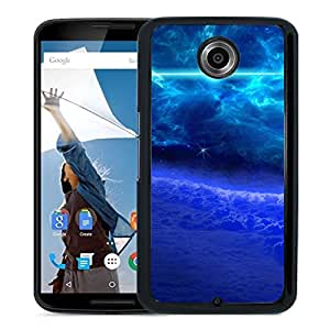 New Custom Designed Cover Case For Google Nexus 6 With Blue Glowing Sky Fantasy Mobile Wallpaper Phone Case