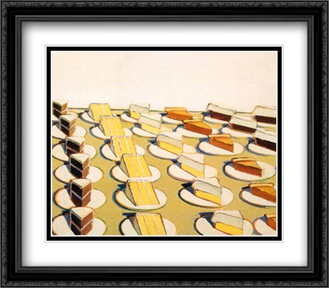 Pie Counter, 1963 2x Matted 27x27 Large Black Ornate Framed Art Print by Wayne Thiebaud by ArtDirect