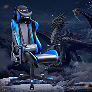 GTPLAYER Gaming Chair Office Desk Computer Racing PC Video Chairs Adult High Back Armrest Ergonomic Design with…