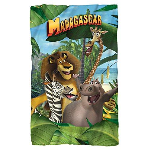 Jungle Time -- Madagascar -- Fleece Throw Blanket (36