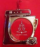 Chef Baker Mixer Christmas Ornament Photo Frame Enamel Metal