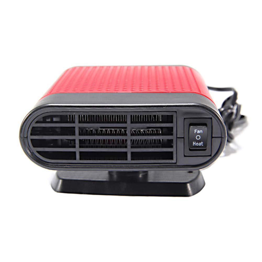 JujubeZAO Heated Warmer Low Noise Easy to Use 12//24V 360 Degree Rotate Portable Car Heater Fan Windshield Defroster Demister 360 Degree Rotating Black Gray 12V Window Defrost