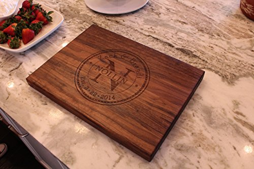 Personalized Cutting Board - Anniversary Gift - Wedding Gift (1 Walnut 12 Inch Board)