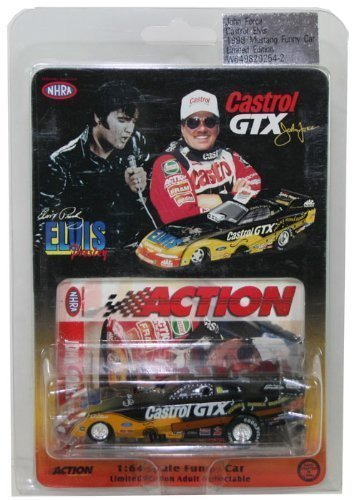 1999 - Action Platinum Series / NHRA - John Force : Castrol GTX / Elvis Presley - Mustang Funny Car - 1:24 Scale / Die Cast Metal - Out of Production - New - Rare - (24 Action Nhra Funny Car)