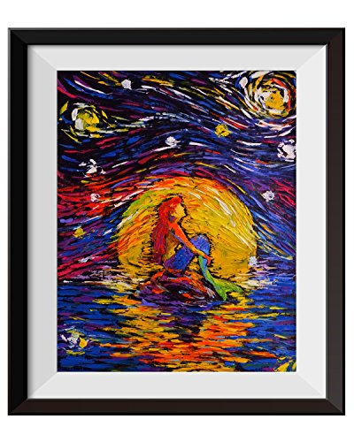Uhomate Vincent Van Gogh Starry Night Posters Ariel Princess