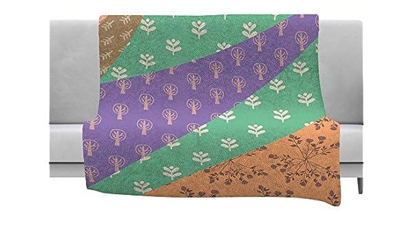 Kess InHouse Famenxt Garden Multicolor Digital Throw 40 x 30 Fleece Blanket