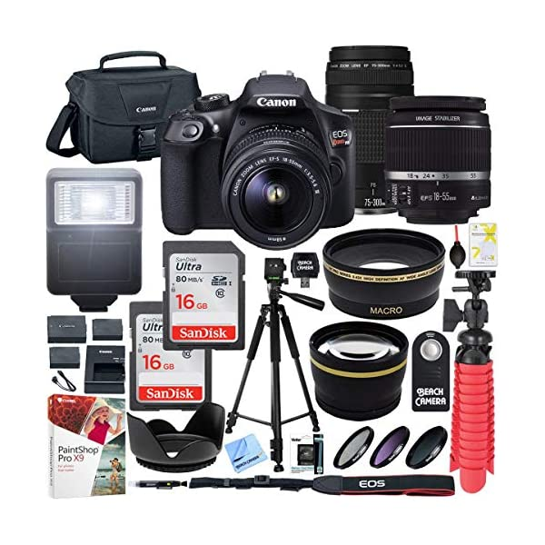 5131aGraxtL. SS600  - Canon T6 EOS Rebel DSLR Camera with EF-S 18-55mm f/3.5-5.6 IS II and EF 75-300mm f/4-5.6 III Lens and SanDisk Memory…