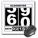 3dRose LLC 8 x 8 x 0.25 Inches Mouse Pad, Oldometer Happy 60Th Birthday (mp_110016_1)