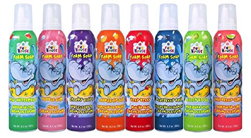 Fun House Kids Foam Soap 8 Pack Assorted Flavor Foam Soap, 8.2 oz each