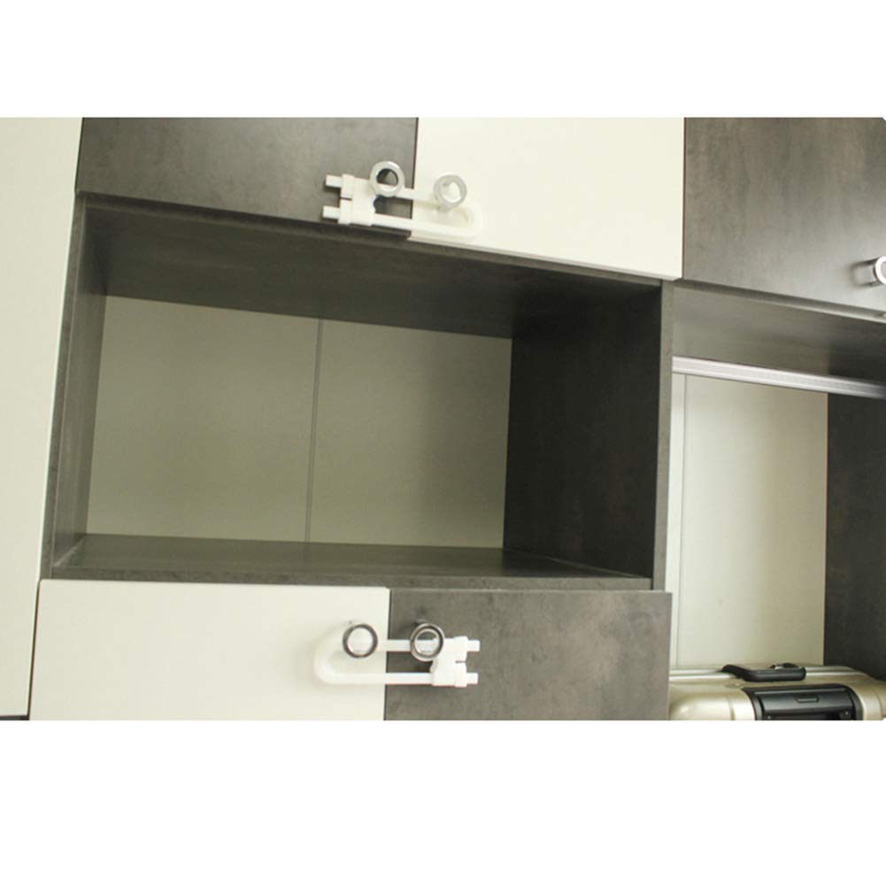 2 Unidades para Puertas de Almacenamiento de Cocina y ba/ño VICV2RO con Forma de U Show a Prueba de ni/ños u-Shaped Cerraduras de Seguridad para gabinetes de beb/é