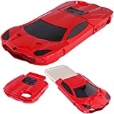 For iPhone 6 / 6S WwWSuppliers 3D Fancy Luxury Fast Sports Race Car Case for Apple iPhone 6 6S 2-Piece Stand Hard Protective Cover (Red) Estuche Funda