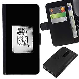 Stuss Case / Funda Carcasa PU de Cuero - El cartel de la caja Inspiring - LG G2 D800