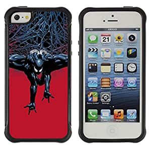 SHIMIN CAO@ Evil Superhero Rugged Hybrid Armor Slim Protection Case Cover Shell For iphone 5S CASE Cover ,iphone 5 5S case,iphone5S plus cover ,Cases for iphone 5 5S