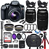 Canon EOS Rebel T6 DSLR Camera with 18-55mm is Lens Bundle + Canon EF 75-300mm f/4-5.6 III Lens + 32GB Memory + Filters + Monopod + Spider Tripod + Professional Bundle