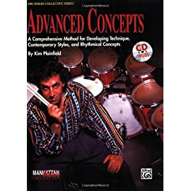 Picture of the cover of Advanced Concepts the legendary drum book by Kim Plainfield