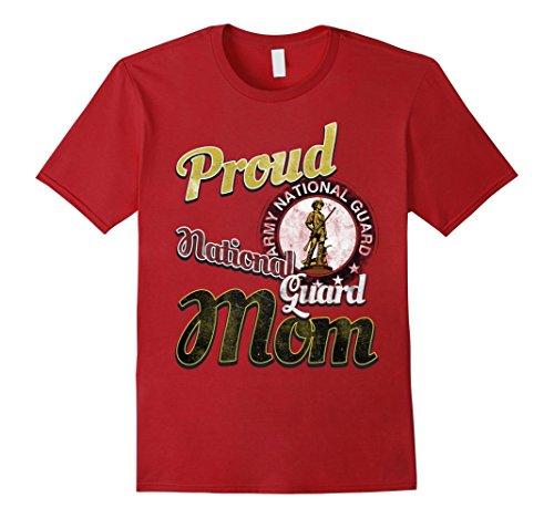 Mens Proud National Guard Mom Army T-Shirt Birthday Gift 2XL Cranberry Mens National Guard