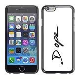 LASTONE PHONE CASE / Slim Protector Hard Shell Cover Case for Apple Iphone 6 Plus 5.5 / Cool Dope 420 Signature Minimalist Black White