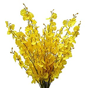 """Artificial Flowers Orchids Silk Fake Flowers in Bulk, 12 Pcs (Each 38.5""""), for Wedding Festive Party Home Office Decoration, Not Include Vase 13"""