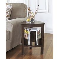 Larimy Dark Brown Triangle End Table