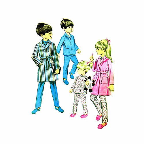 1960s Boys and Girls Robe and Pajamas McCalls 9278 Vintage Sewing Pattern Check Offers for Size ()