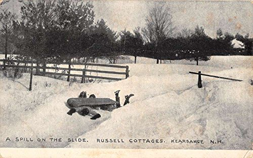 Kearsarge New Hampshire Russell Cottages Snow Scene Antique Postcard K84304