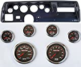 Classic Dash 104702113 Chevelle SS Carbon Dash Carrier Panel w/TR High Velocity Red Line Gauges
