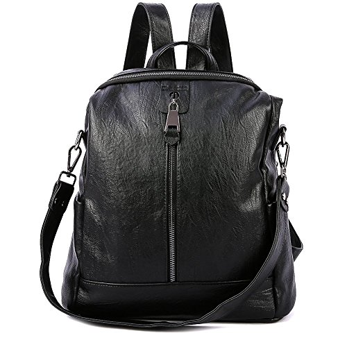 Luckysmile Womens Backpack Purse Soft PU Leather Travel Shoulder Everyday Bag by Luckysmile
